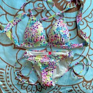Victoria's Secret || Neon Floral Bikini